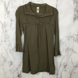 Free People Long Sleeve Tunic Top Blouse